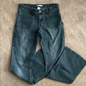 Gap stretch flared jeans.